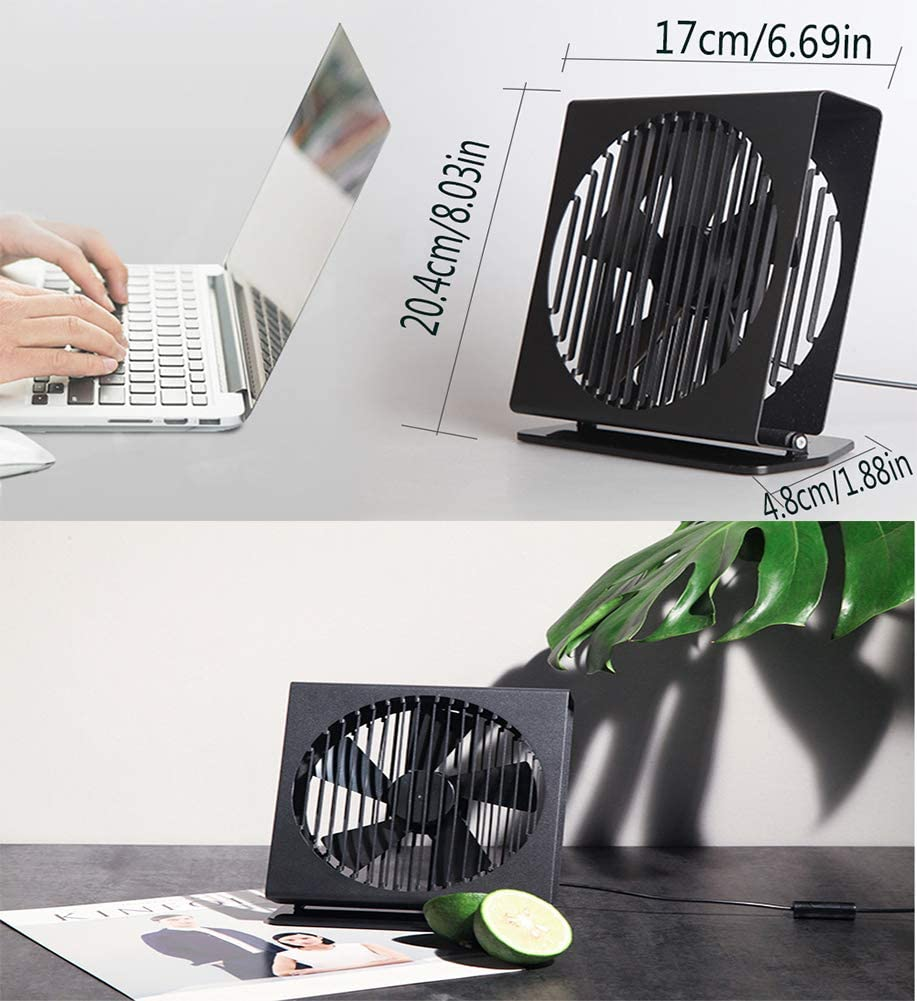 USB Mini Desk Fans Handheld Small Light and Quiet Portable Wire Control Double Leaf Fan for Home Office Dorm Travel Outdoor