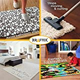 Rug Gripper Tape Pads [Anti Slip, Non Skid] Carpet Corners Easily Stick Rugs to Floor, [Reusable] Uses Kraftex Double Sided Carpet Tape [Grips Any Floor] No Damage to Hardwood, Wooden Floor [8pcs]