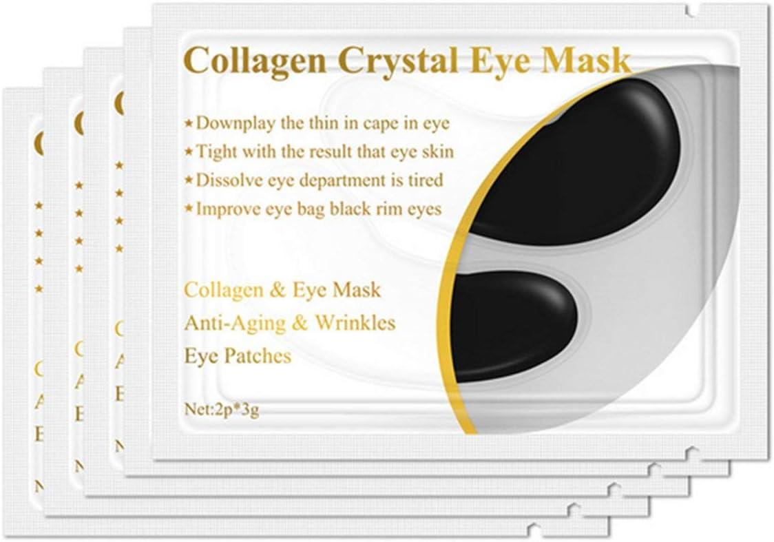 Heaviesk 1 par de proteína de colágeno Mascarilla para Ojos Eliminación de Parches oculares Círculo Oscuro Antienvejecimiento Antiarrugas Hidratante Facial Reafirmante Cuidado Ocular