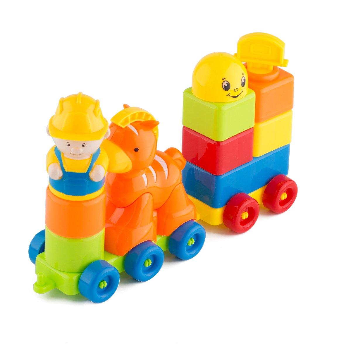 Blocks ShowTop 12 Pieces Building Blocks Children Builders with Storage Bag Orange Trojan by ShowTop   B01L3NS6LC