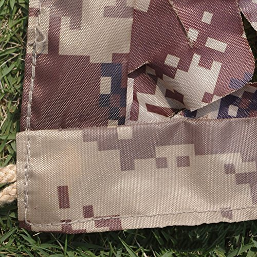 QIANGDA-pengbu QIANGDA Filet D'ombrage Camouflage Camouflage Camouflage Dépistage Protecteur Tissu d'Oxford Maille De Protection Solaire De Plein Air Exercice Militaire, Multi-Taille (Taille : 5 x 5m) 49dab7