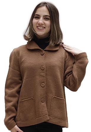 65defe34ba8a Women s Soft Alpaca Wool Four-Button Knitted Cardigan Short Coat ...
