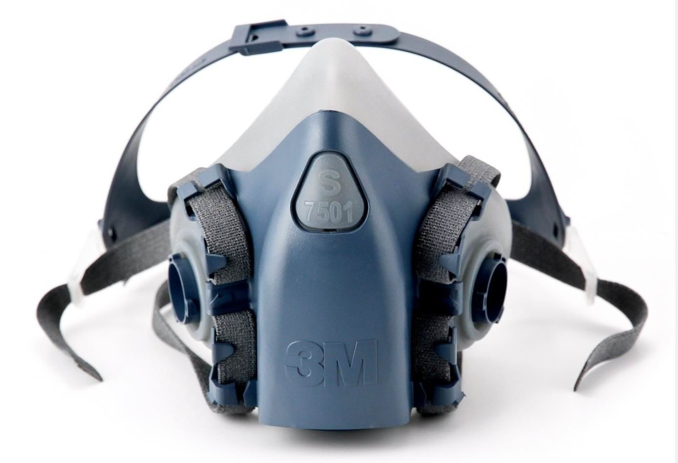 3 M Small半分Facepiece再利用可能な保護マスク7501 /37081 (AAD) 呼吸保護 3 Set (Small)   B07G2R3RJT