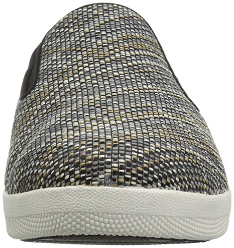 Fitflop Womens Superskate Twill Knit Nero / Carbone Misto