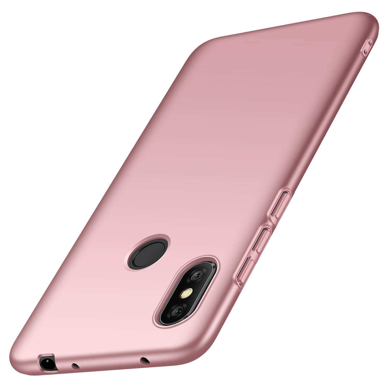 anccer Funda Xiaomi Redmi Note 6 Pro [Serie Colorida] [Ultra-Delgado] [Ligera] Anti-rasguños Estuche para Redmi Note 6 Pro (Oro Rosa Liso)