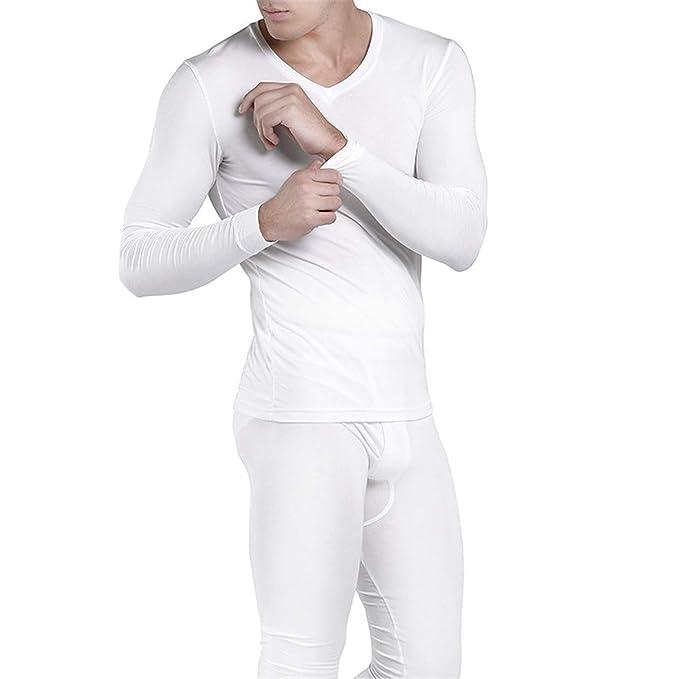 Amazon.com: Juego de ropa interior térmica de cintura alta ...