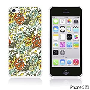 Flower Pattern Hardback Case forDiy For Iphone 5C Case Cover Floral Texture