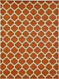 Unique Loom Trellis Collection Light Terracotta 9 x 12 Area Rug (9' x 12')