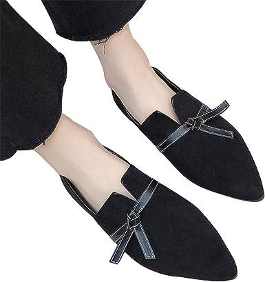 2019 Mujer Zapato Plano Elegante Chic Bailarinas con Lazo