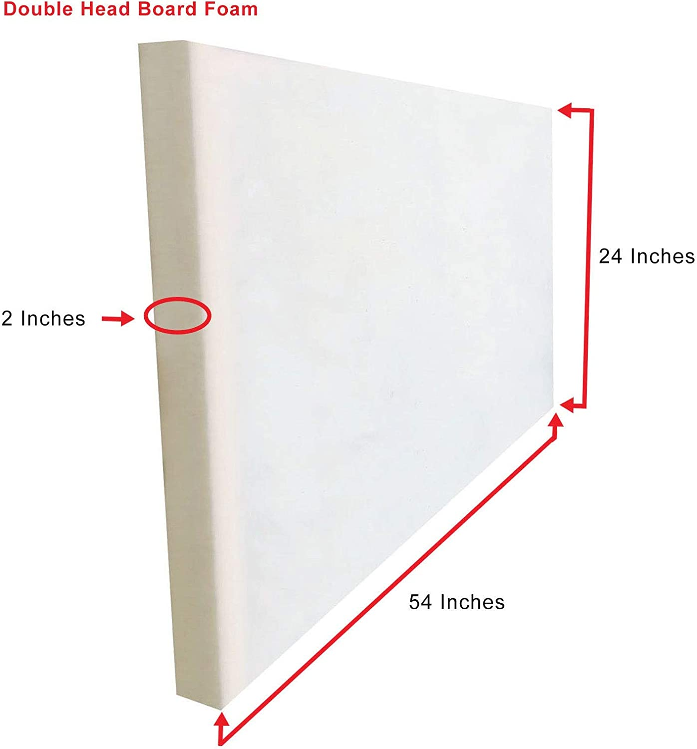 Double 24 x 54 x 2 New Upholstery Headboard Foam Sheets Any and Every Size Available