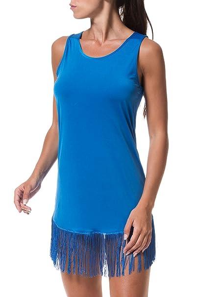 purchase cheap a4876 71bcc VESTITO CORTO F**K AZZURRO FK16-0228U (M): Amazon.it ...