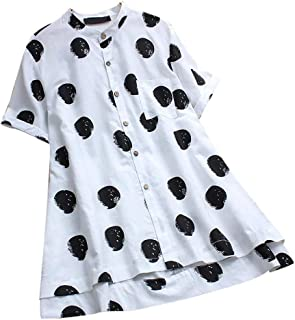 Youngii_ Tee Shirt Ete Femme Chic Ado Fille T-Shirt Casual Rayé Blouse Haut Manches Longues Tops de Plage
