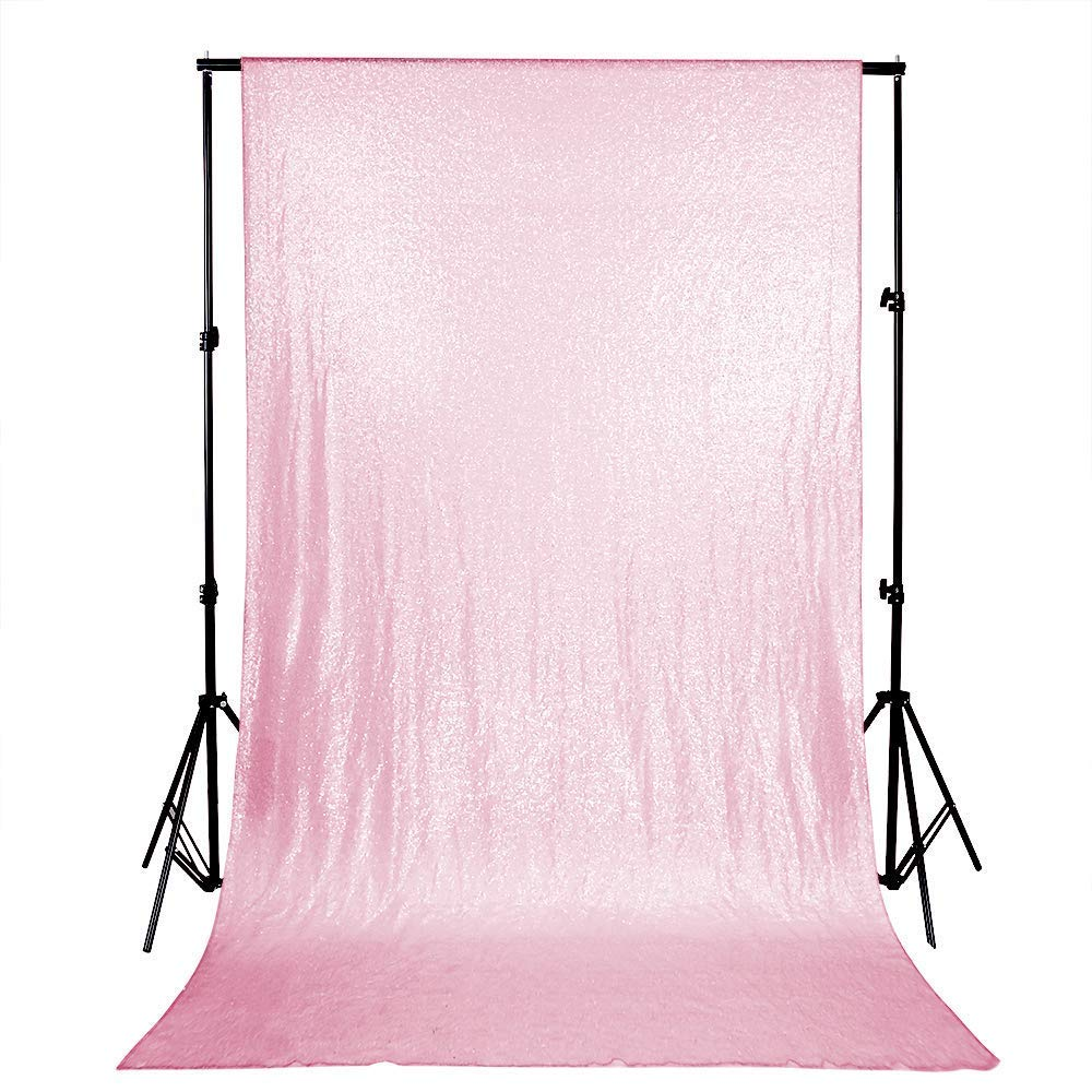 4ftx8ft, Pink   B-COOL Sequin Backdrop 4ftx8ft Pink Sparkly Backdrop Evening Wedding Decoration