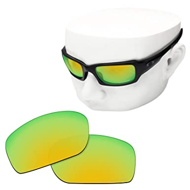 dc08111b16 OOWLIT Replacement Lenses Compatible with Oakley Fives Squared Sunglass 24K  Combine8 Polarized