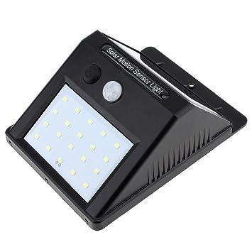 Luces solares 20 LED Sensor de luz exterior impermeable inalámbrico solar sensor de movimiento luz de