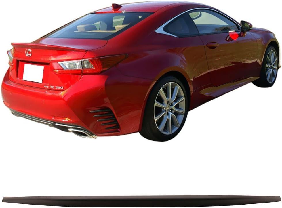 Factory Style ABS Unpainted Trunk Boot Lip Spoiler Wing Deck Lid By IKON MOTORSPORTS Trunk Spoiler Fits 2015-2018 Lexus RC350 2016 2017