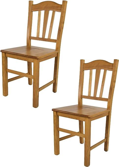 Tommychairs Set 2 sedie modello Silvana per cucina bar e