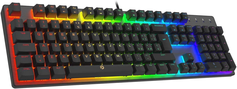 DREVO Tyrfing V2 105Key RGB Teclado Mecánico Gaming con Cable USB diseño Completo Programable Macro Soporte de Software IT Layout Outemu Clicky ...