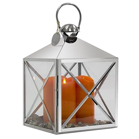 Decoration Vita Luxe En Acier Inoxydable Avec Poignee Lanterne