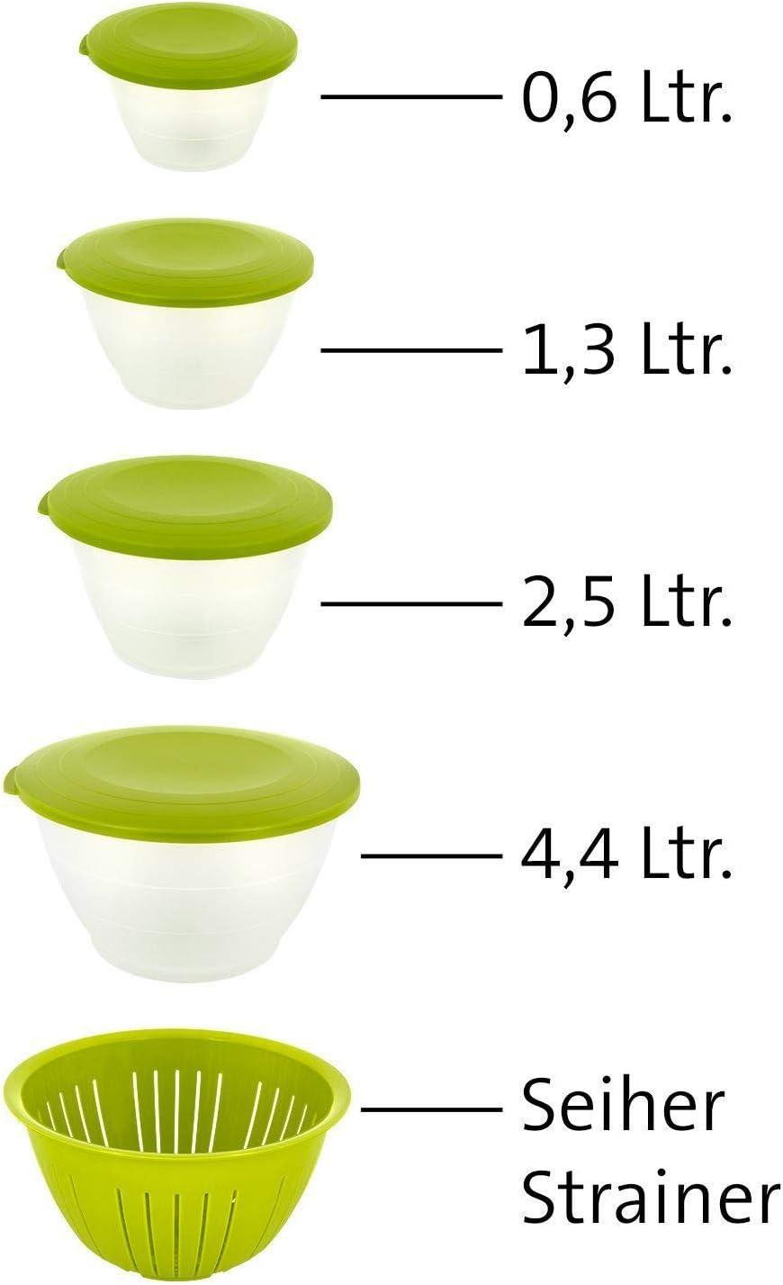 3/Pezzi Westmark 2418227/a Ciotola Set Olympia PP 26,3/x 25,5/x 14,7/cm Verde//Bianco