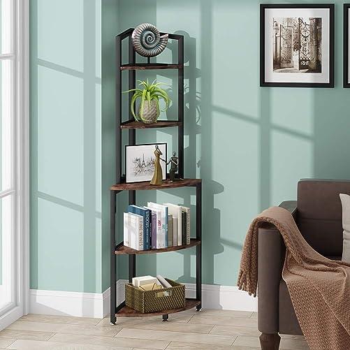 Tribesigns 5-Tier Corner Shelf - the best modern bookcase for the money