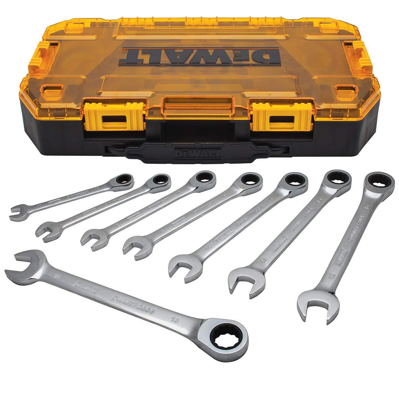 DEWALT Combination Ratcheting Wrench Set, 8-Piece Metric (DWMT74734) by DEWALT