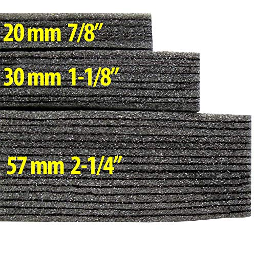 - Kaizen Foam 2 Feet x 4 Feet, 57mm Thick Color Black