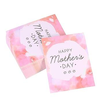 Amosfun Happy Mothers Day Handmade Greeting Cards Small Birthday Party Invitation Decorative 50 Pcs Amazonin Toys Games