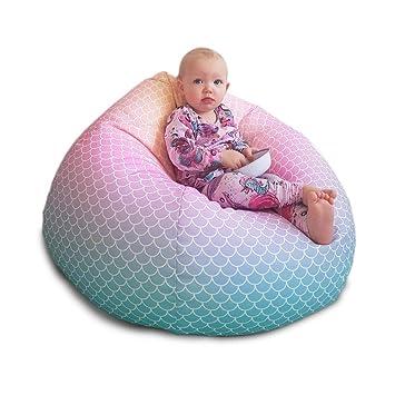 Incredible Mermaid Ombre Kids Classic Bean Bag Amazon Co Uk Baby Machost Co Dining Chair Design Ideas Machostcouk