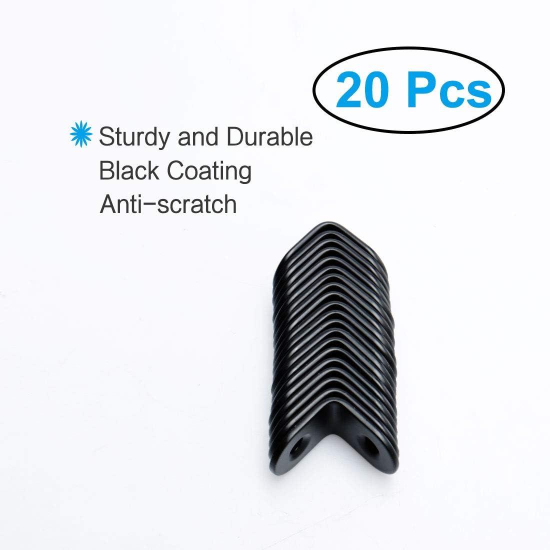 soportes de /ángulo recto en forma de L soporte protector de esquina con tornillos para muebles Soporte de /ángulo de acero inoxidable para esquina