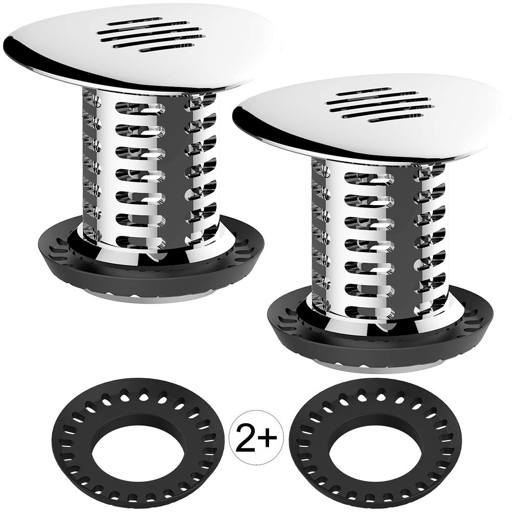 Aofmee Bathtub Drain Hair Catcher, Upgraded Strainer/Snare / Protector, Match Standard Shower Tub & Sink Drains, Catches Hair Easily & No Worry of Stopping Up The Water (2 PCS) by Aofmee
