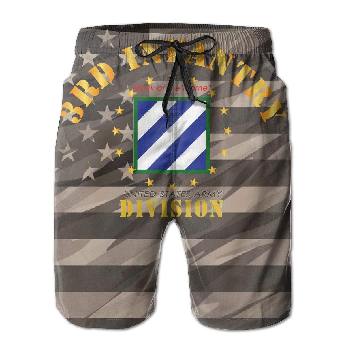 Third Infantry Division Logo Mens Swim Trunks Bathing Suit Beach Shorts
