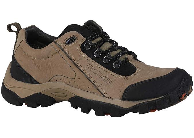 Khaki Leather Casuals Shoes-6 UK/India