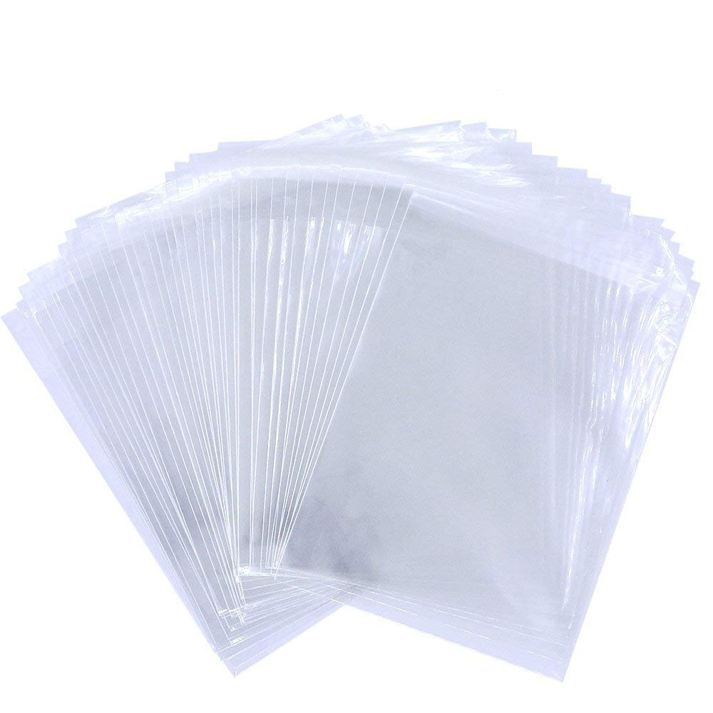 300 PCS Clear Cellophane Bags Self-Adhesive Sealing Treat Bags, baotongle Resealable Cellophane BagsOPP Plastic Bag for Candy, Soap, Cookie, Valentine Chocolates 5x6 inches