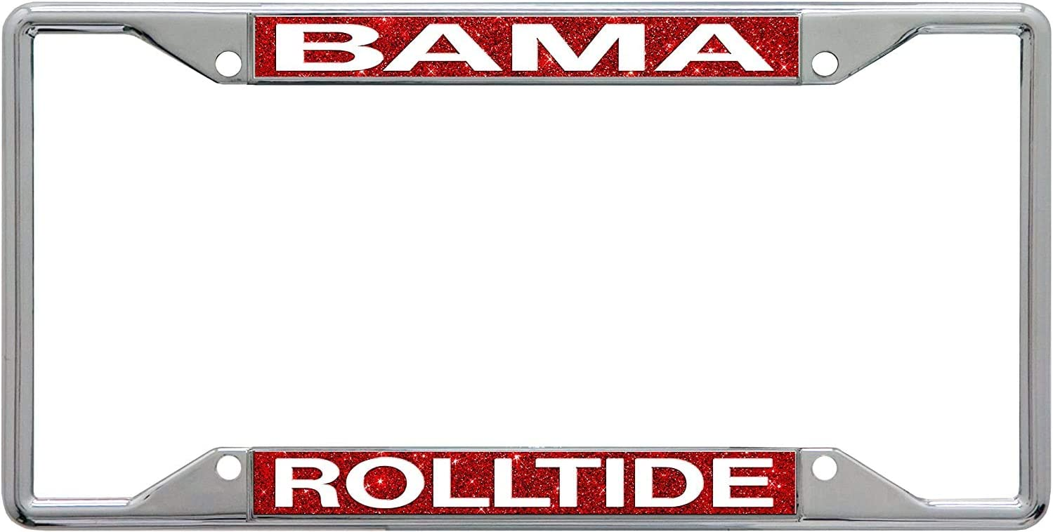 Armed Forces Depot University of Alabama Roll Tide Glitter Background License Plate Frame