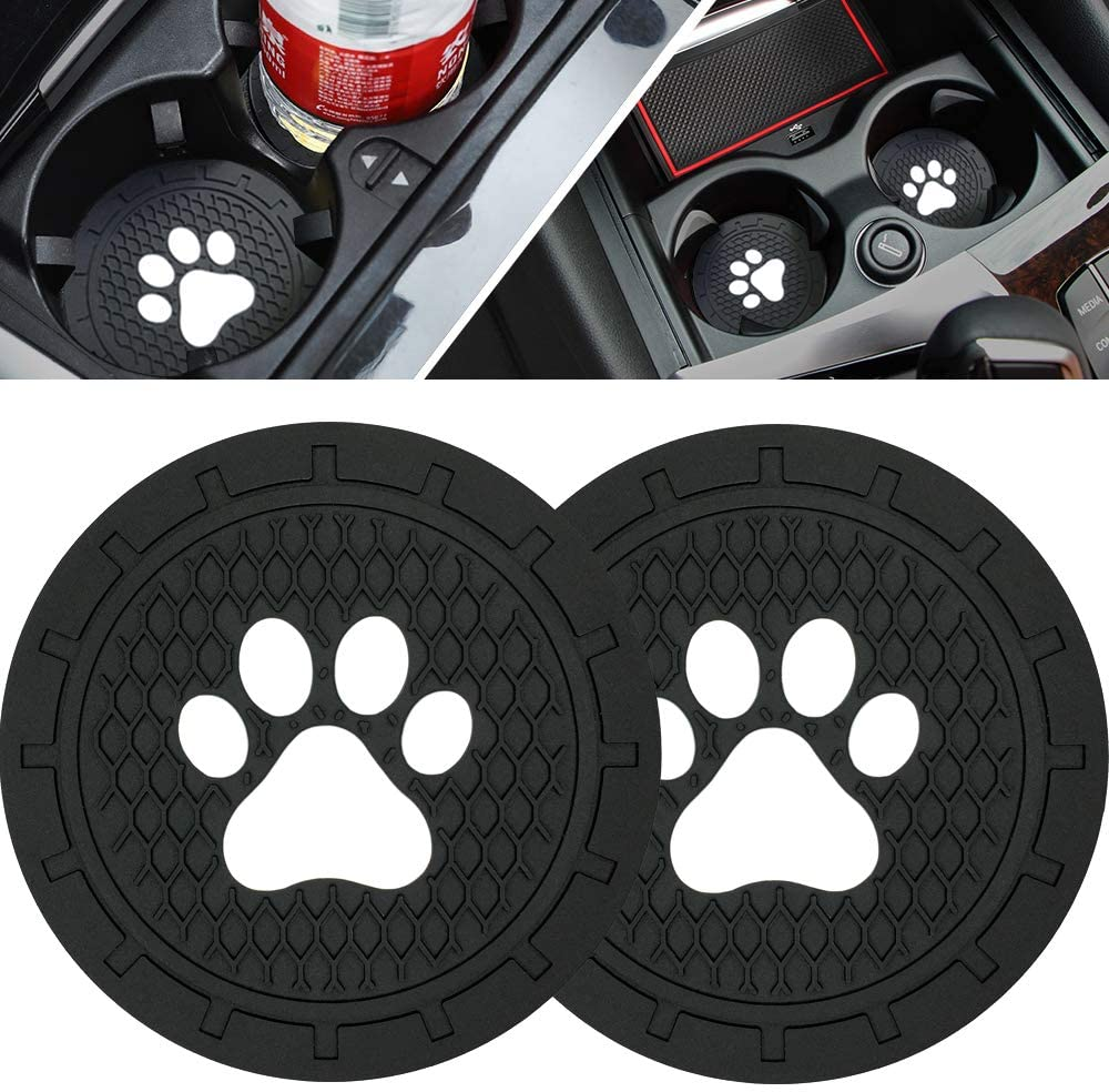 Set of 2 Fashion Auto Accessories for Women /& Girls Hzran 2.75 Inches Car Coasters for Drinks Absorbent Flamingo Removable Cup Holder Coaster for Vehicle Cute Car Coasters for Women