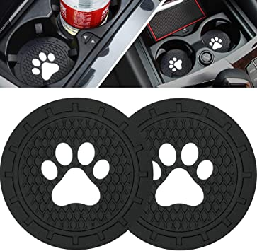 2.75 Inch Soft Rubber Pad Set Round Auto Cup Holder Insert Drink Coaster Car Interior Accessories DIYcarhome 2 Pack Car Cup Holder Coasters for Pittsburgh Steelers