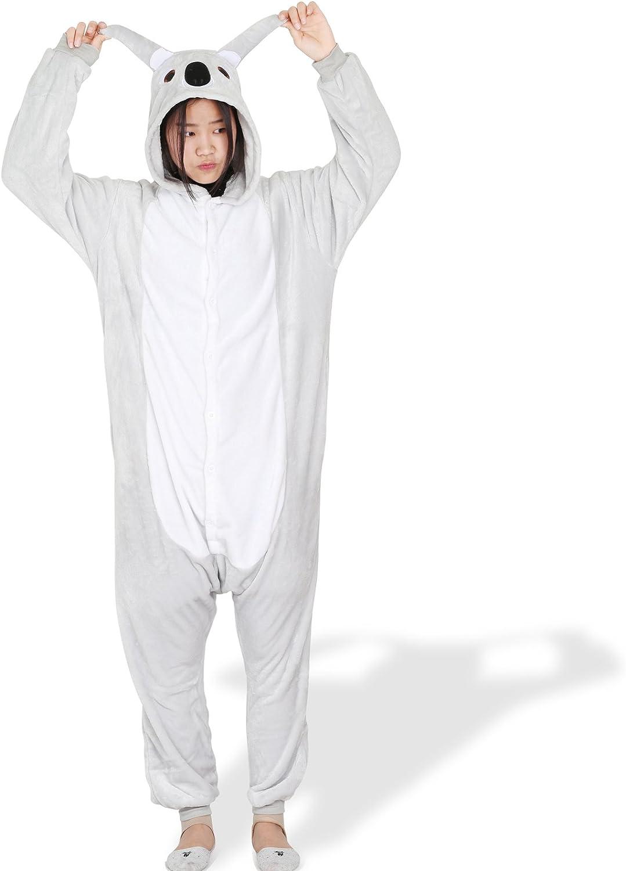 LIHAO Pijama Disfraz de Koala Gris para Adulto Unisex, Cosplay ...