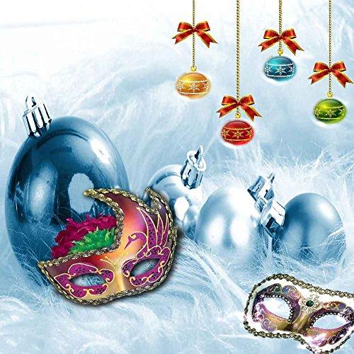 GladsBuy Chrismas Costume Ball 5' x 5' Computer Printed Photography Backdrop Christmas Theme Background LMG-278]()