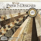 Paper Designer Thick Beautiful Pattern Design Printed Papers , Theme: Retro Style- Set Of 40