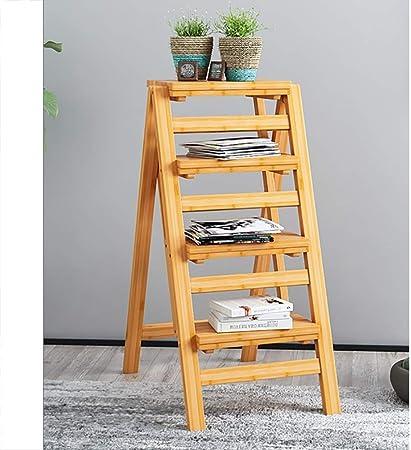 JB-TD Taburete De Paso Escalera Multifunción Creativa De Bambú Plegable para El Hogar/Taburete Alto/Silla De Bar/Mesa De Cama/Estante/Soporte De Flores, 2/3/4 Capas (Tamaño : 4 Layers B): Amazon.es: Hogar
