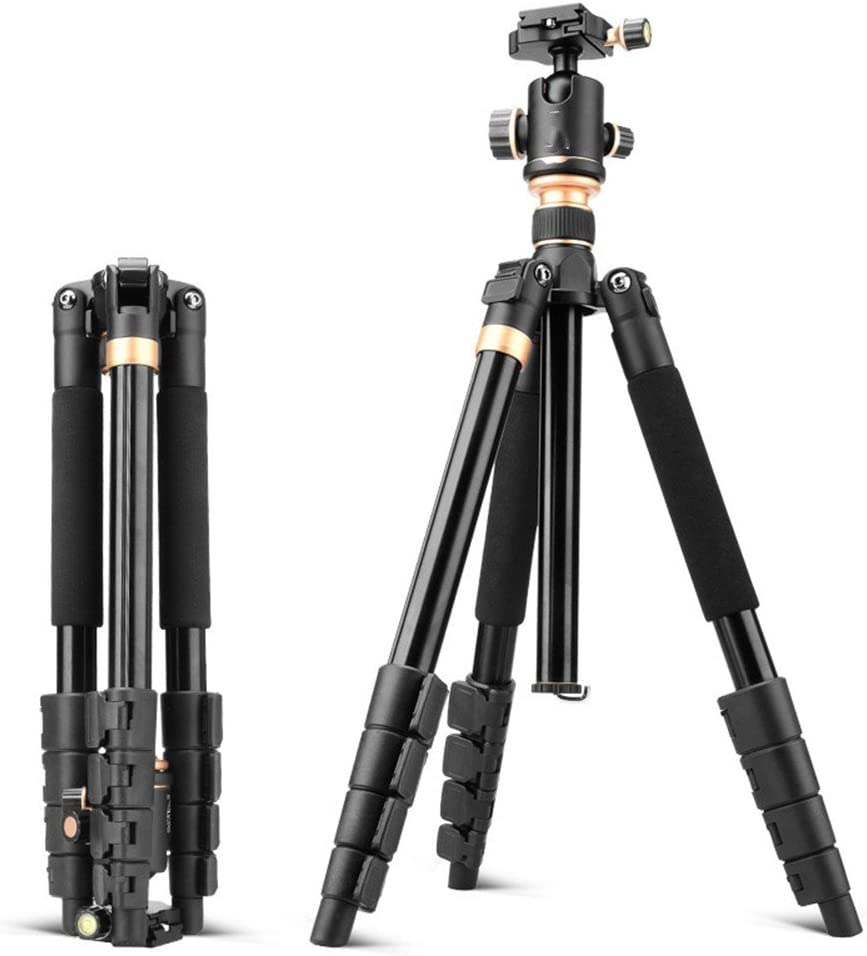 Multi-Function Travel Photography Stand Portable Aluminum SLR Camera Tripod Removable Monopod