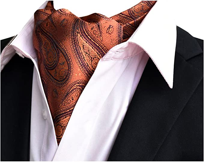 YCHENG Corbatas Bufandas de Hombre Jacquard Ascot Paisley Pañuelo ...
