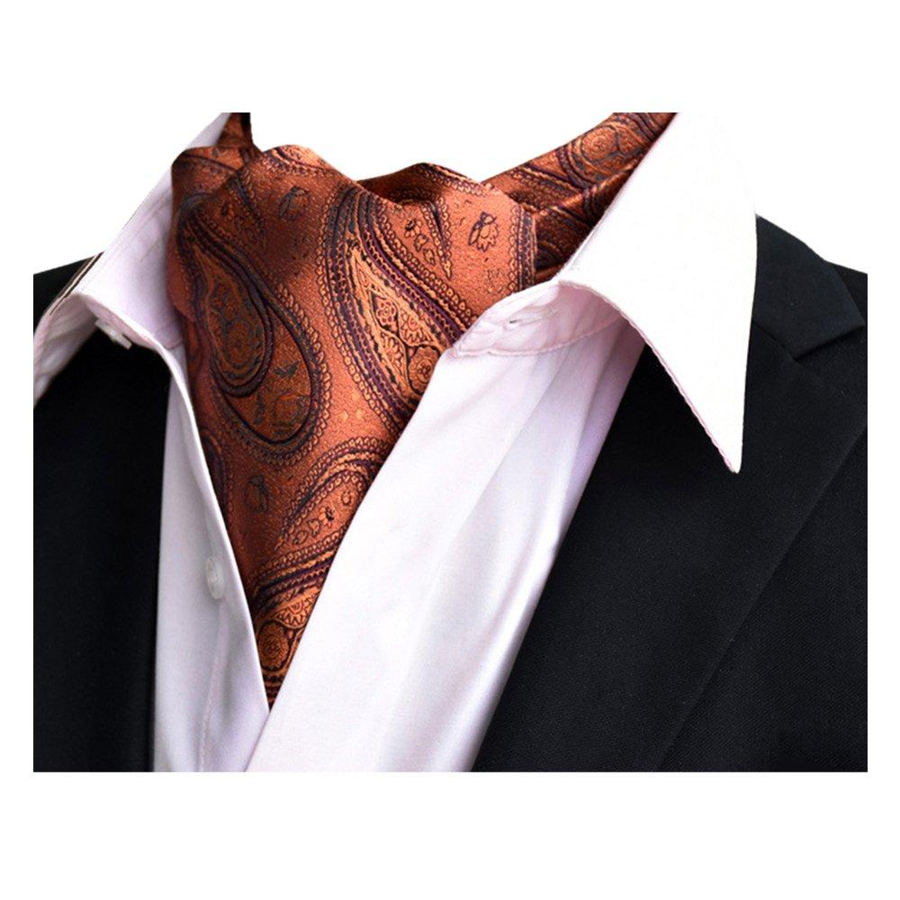 YCHENG Uomo Ascot Cravatta di Lusso In Seta Cravatte e papillon Scarf