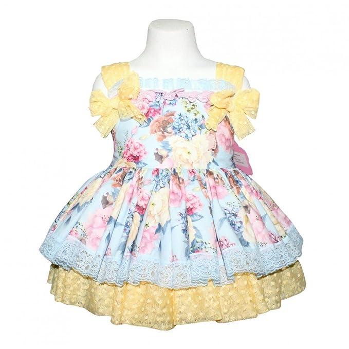 Marita Rial-Modelo 2240-Vestido vuelo para niña-Ceremonia-Color celeste y