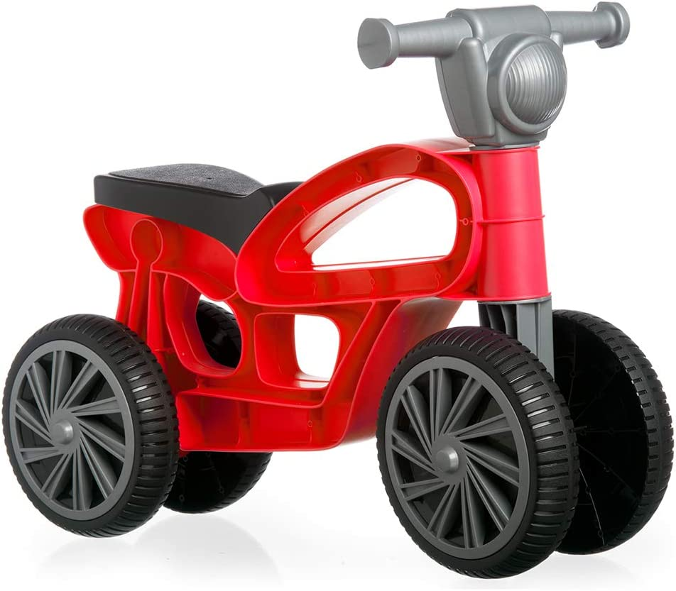 Chicos Correpasillos con Cuatro Ruedas Mini Custom Rojo, (Fábrica de Juguetes 36006), Color