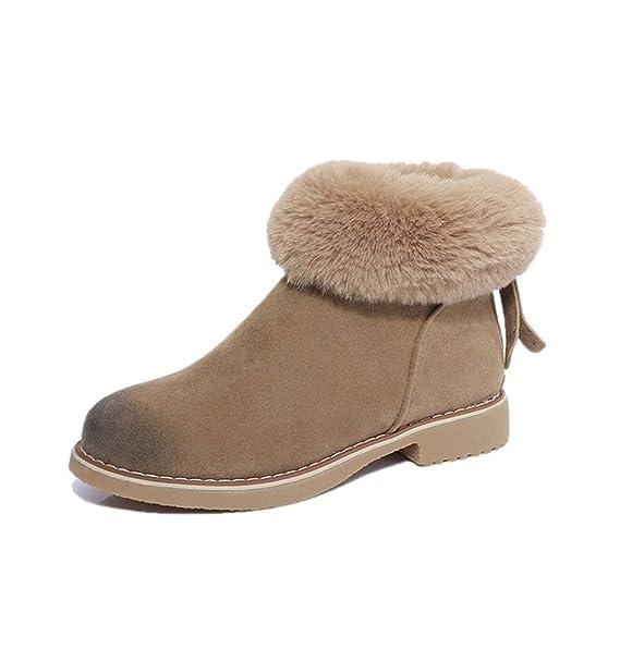 Minetom Elegante Mujer Invierno Otoño Calentar Botines Botas De Nieve Boots Cortas Zapatos Casual Moda Plano Martin Botas Shoes: Amazon.es: Ropa y ...