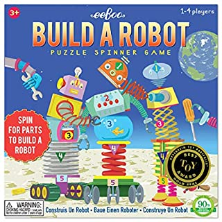 eeBoo Build a Robot Spinner Game for Kids