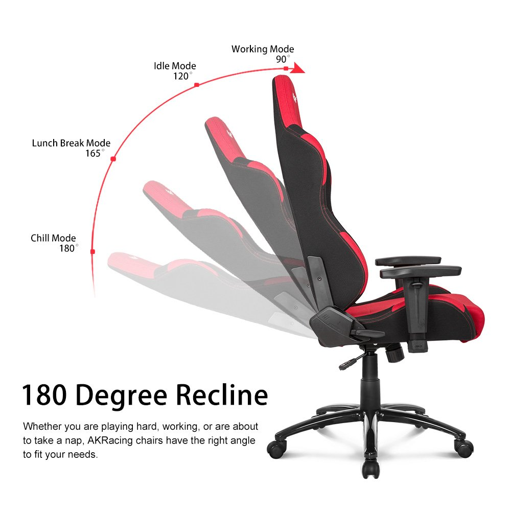Amazon.com: AKRacing Prime Series Premium Gaming Chair with High Backrest, Recliner, Swivel, Tilt, Rocker and Seat Height Adjustment Mechanisms with 5/10 ...