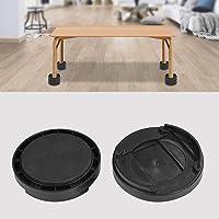 Estink- Bed Risers, 8 stuks, kunststof, ronde vorm, stapelbaar, multi-sleuf, tafelrisers of meubelrisers onder bedopslag…